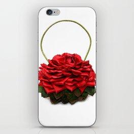 Red Rose Handbag iPhone Skin