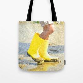 Fun In My Yellow Rain Boots Tote Bag