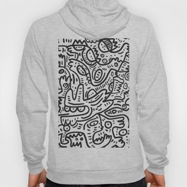 Graffiti Black and White Monsters are waiting for Halloween Hoody