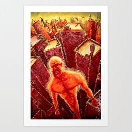 Agitated Art Print