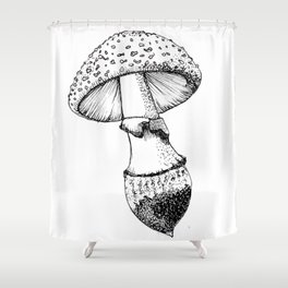 Floating Mushroom Shower Curtain