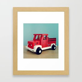 Toy Fire Truck Framed Art Print