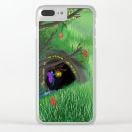 Shadows cave Clear iPhone Case