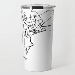 BAKU AZERBAIJAN BLACK CITY STREET MAP ART Travel Mug