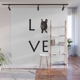 French Bulldog Love Art Print Wall Mural
