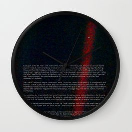 Pale Blue Dot - Voyager 1 - Earth photo, HQ quality Wall Clock