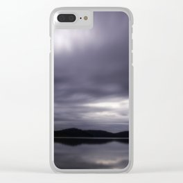 Angry Clouds Clear iPhone Case