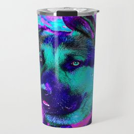 Artistic Dog Expression Travel Mug