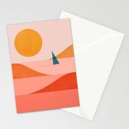 Abstraction_Sailing_Ocean_002 Stationery Cards