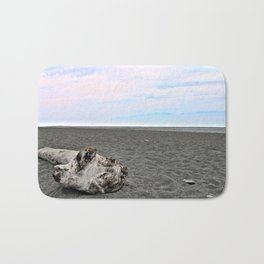 Black Sand Color Sky Bath Mat