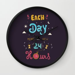Each day means a new 24 hours Wall Clock