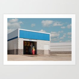Carwash Exit Art Print