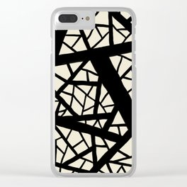 Straight lines crossed path Clear iPhone Case