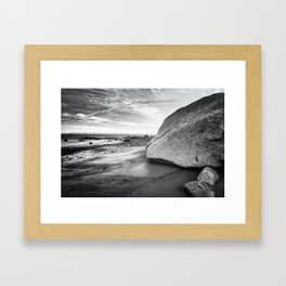 Kenai Beach bw Framed Art Print