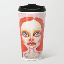 pink orange Metal Travel Mug