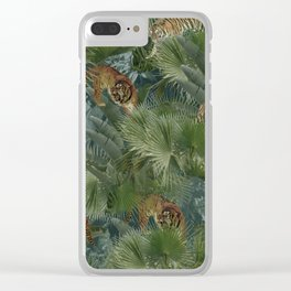 tigers in the wild Clear iPhone Case