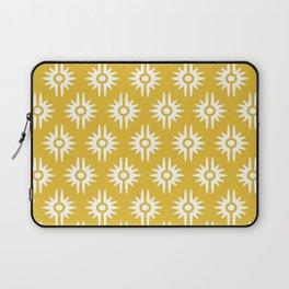 Mid Century Modern Bang Pattern 271 Must Yellow Laptop Sleeve