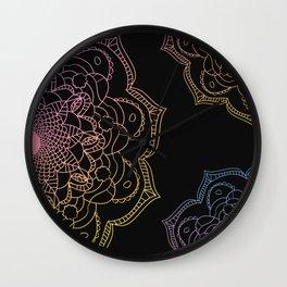 Watercolor mandala, Wall Clock