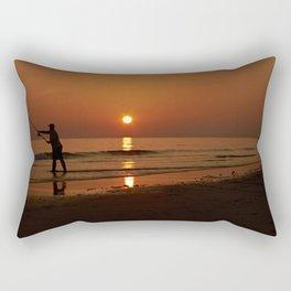 Gower Fishing Rectangular Pillow