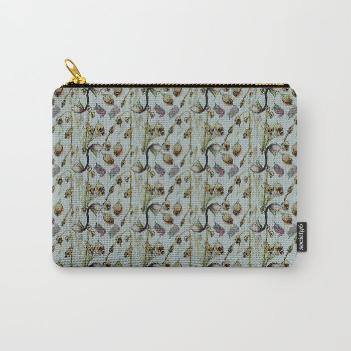 Dead Rose & Snapdragon Pattern Carry-All Pouch