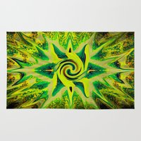 rasta Area & Throw Rugs featuring RASTA STAR by EclecticArtistACS