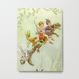 """The Pond Fairies"" by Margaret Tarrant Metal Print"