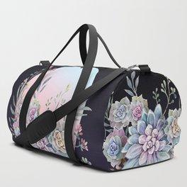 Succulent full moon Duffle Bag