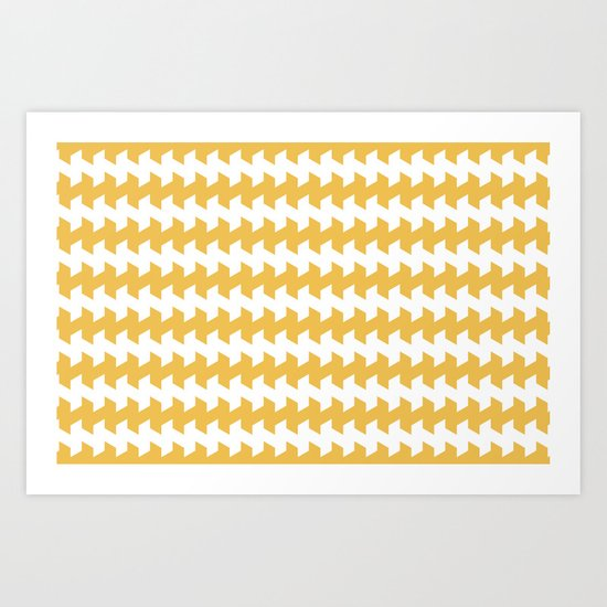 jaggered and staggered in mimosa Art Print