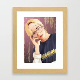BTS V SUMMER FANART Framed Art Print