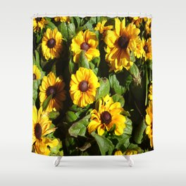Yellow Daisy Patch Shower Curtain