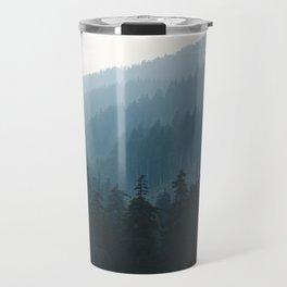 Hazy British Columbia Mountains Travel Mug