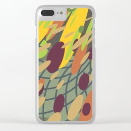 yellow green (a10 Clear iPhone Case
