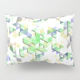 Floating Triangles Pillow Sham