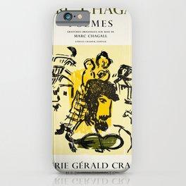 Plakat galerie gerald cramer marc chagall iPhone Case