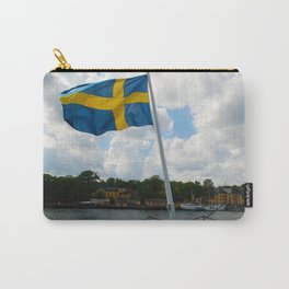 Flag of Sweden on Stern of Ship at Stockholm Carry-All Pouch