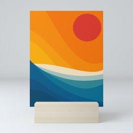 Abstract landscape art Mini Art Print