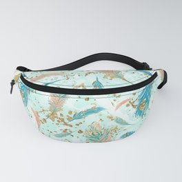 Colorful Feather Design Fanny Pack