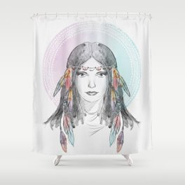 watercolor godess Shower Curtain