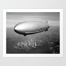 Airship over New York Art Print