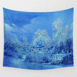 Wedgewood Blue English Garden Wall Tapestry