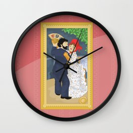 Dance in the country by Renoir Wall Clock