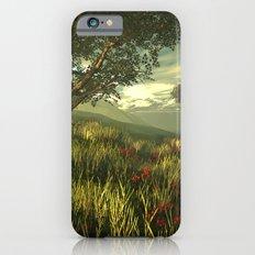 Summer tree in a poppy field Slim Case iPhone 6s