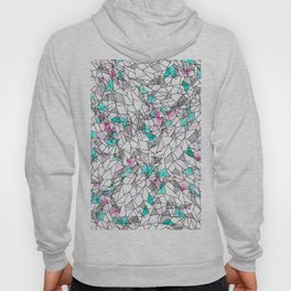 Pink and Teal Abstract Watercolor and Geometric Hoody