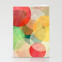 georgiana paraschiv Stationery Cards featuring The Round Ones by Anai Greog
