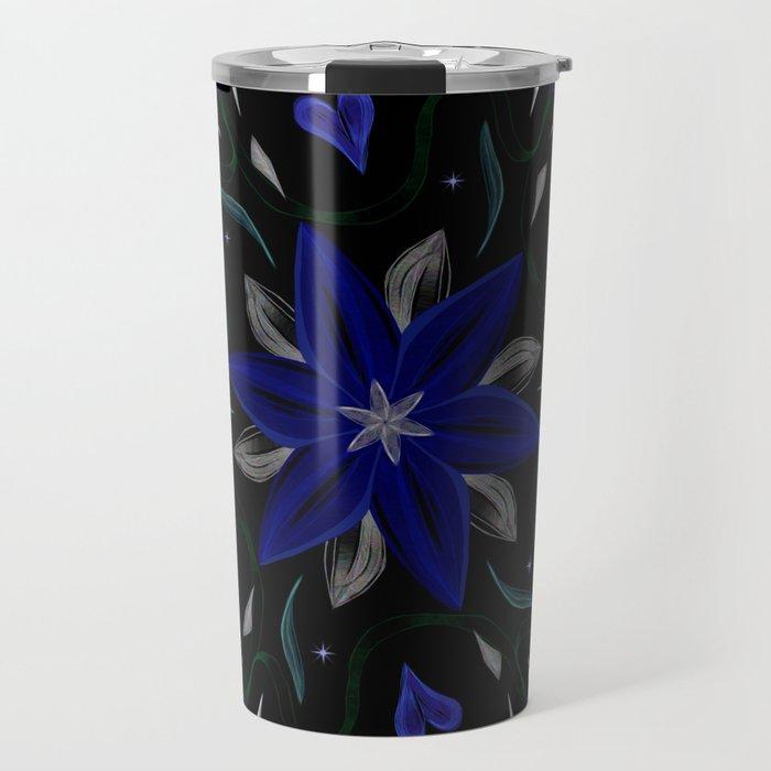 Blue Starflower Travel Mug