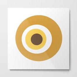Yellow devil eye pattern Metal Print