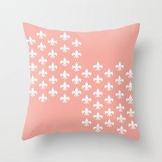 Peachy Infinity Throw Pillow