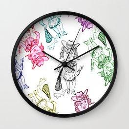 Sheila Godinez and the sexy Cowgirls Wall Clock