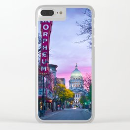 Madison Capital Sunrise with the New Orpheum Clear iPhone Case