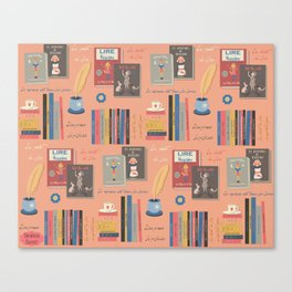 books pattern Canvas Print